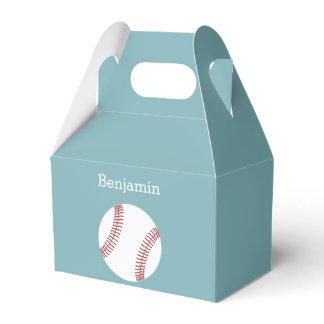 Baseball with Custom Name - Royal Blue Favor Box
