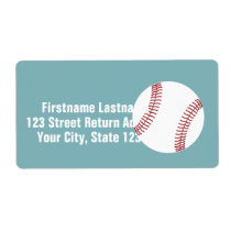 Baseball with Custom Name - Royal Blue Label