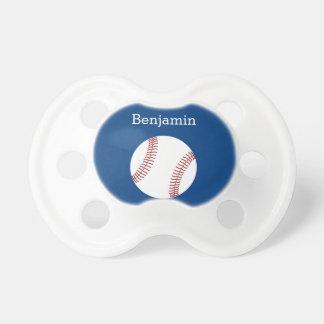 Baseball with Custom Name - Royal Blue Pacifier