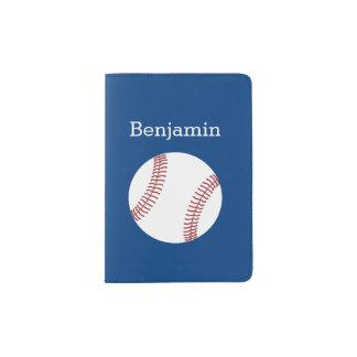 Baseball with Custom Name - Royal Blue Passport Holder