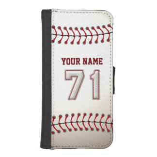 Baseball with Customizable Name Number 71 iPhone SE/5/5s Wallet