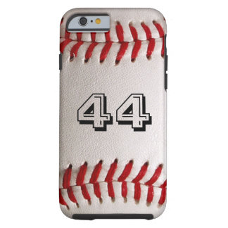 Baseball with customizable number tough iPhone 6 case