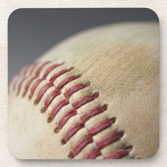 Baseball with impact mark. beverage coaster