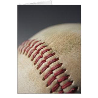 Baseball with impact mark. greeting card