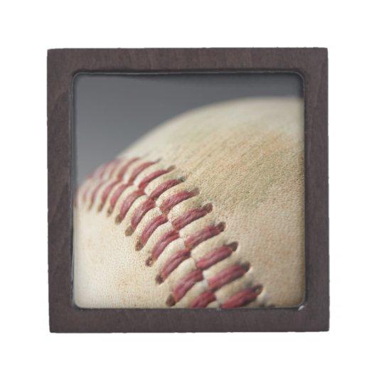 Baseball with impact mark. keepsake box