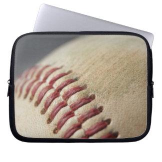 Baseball with impact mark. laptop sleeve
