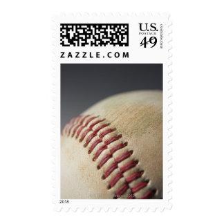 Baseball with impact mark. postage stamp