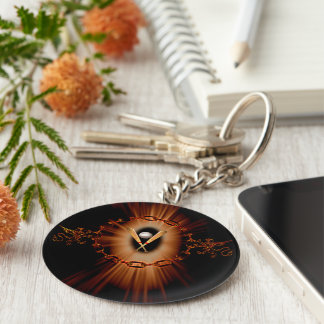 Baseball with lion and light effects keychain