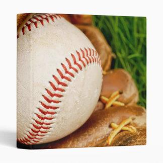 Baseball with Mitt 3 Ring Binder