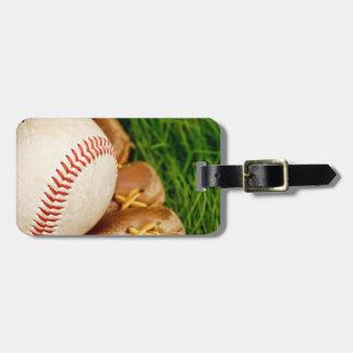 Baseball with Mitt Bag Tag
