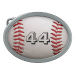 Baseball with Personalized Number Belt Buckles