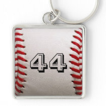 Baseball with Personalized Number Keychain
