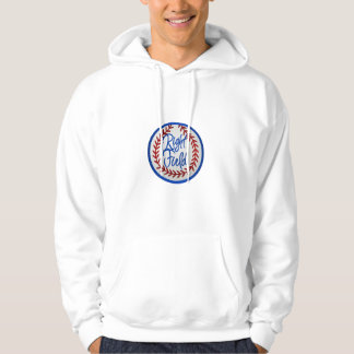 Baseball With Red Stitches and Right Field Hoodie
