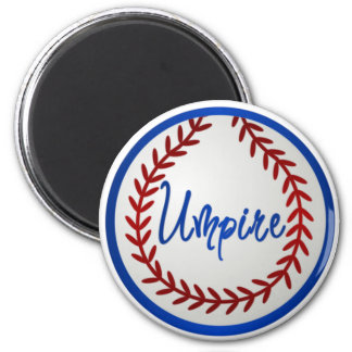 Baseball With Red Stitches and Umpire Magnets
