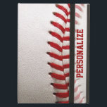 "Baseball with Red Stitching and Personalized Name iPad Air Cover<br><div class=""desc"">Baseball with Red Stitching and Personalized Name.  A macro photograph of a brand new Baseball with red stitching.  Perfect gift for the baseball freak or sports fanatic.</div>"