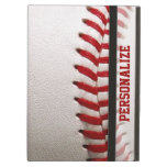 Baseball with Red Stitching and Personalized Name iPad Air Cases