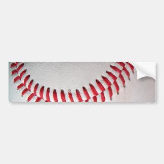 Baseball with Red Stitching Bumper Sticker