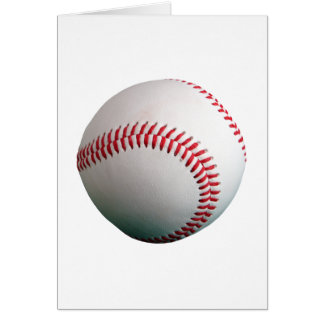 Baseball with Red Stitching Greeting Card