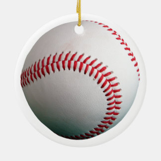 Baseball with Red Stitching Ceramic Ornament