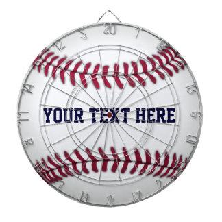 Baseball With Red Stitching Dartboard With Darts