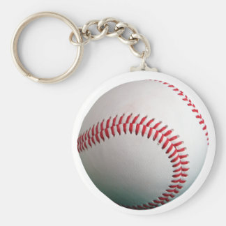 Baseball with Red Stitching Keychain