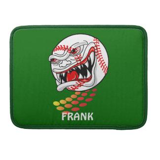 Baseball with Teeth - Customizable! MacBook Pro Sleeve