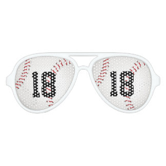 Baseball with your own number | Sports Gift Aviator Sunglasses