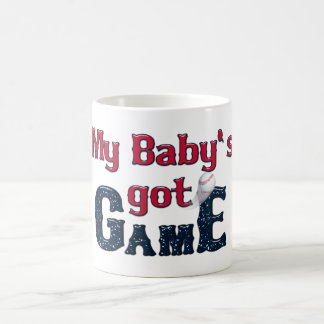 Baseball Word Art-My Baby's got Game-Coffee Mug