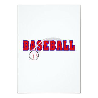 Baseball Word & Ball Logo 5x7 Paper Invitation Card