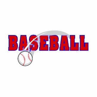 Baseball Word & Ball Logo Statuette