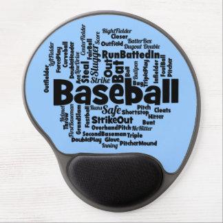 Baseball Word Cloud Gel Mouse Mat