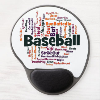 Baseball Word Cloud Gel Mousepads