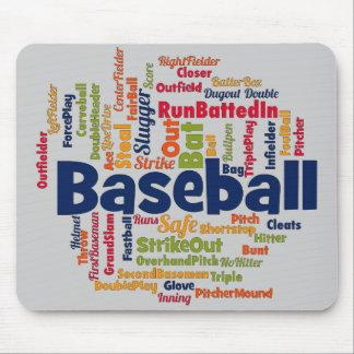 Baseball Word Cloud Mousepad