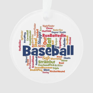 Baseball Word Cloud Ornament