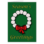 Baseball Wreath Card