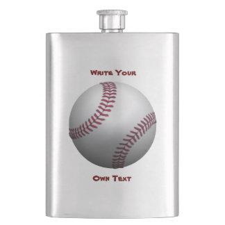 Baseball - Write Your Own Text Hip Flasks
