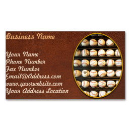 Baseball - You have got some balls there Business Card Magnet