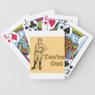 Baseball You're out Bicycle Playing Cards