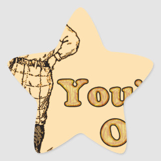 Baseball You're out Star Sticker