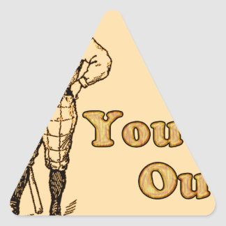 Baseball You're out Triangle Sticker