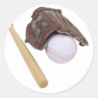 BaseballAndGlove062509 Classic Round Sticker