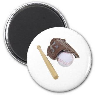 BaseballAndGlove062509 Fridge Magnets