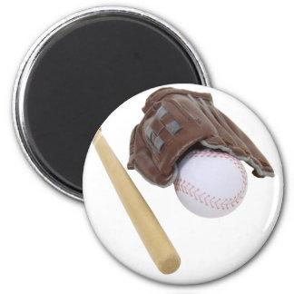 BaseballAndGlove062509 Imán Redondo 5 Cm