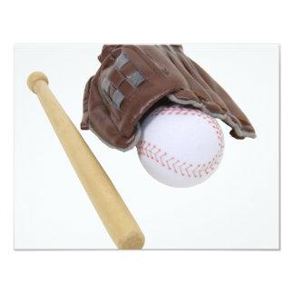 BaseballAndGlove062509 4.25x5.5 Paper Invitation Card