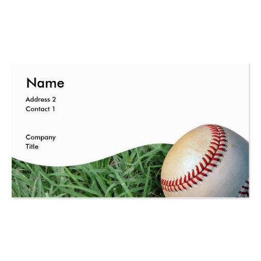baseballbizcard, Address 2, Contact 1, Company,... Business Card Template