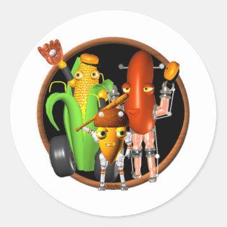 BaseballBots Cornbot  AcornBot Round Sticker