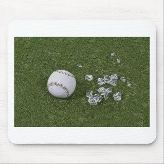 BaseballBrokenGlassOnGrass010212 Mouse Pad