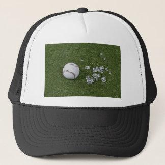 BaseballBrokenGlassOnGrass010212 Trucker Hat