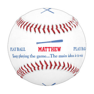 baseballer's bat and play personalized baseball