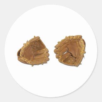 BaseballGloves040311 Classic Round Sticker